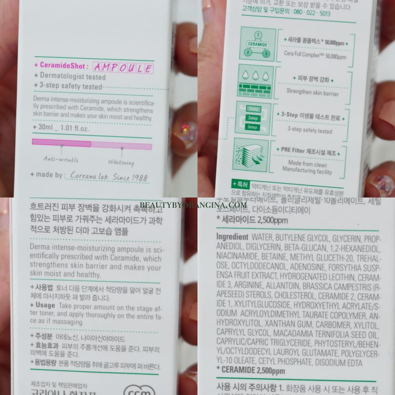 Coreana AMPLE:N Ceramide Shot Ampoule